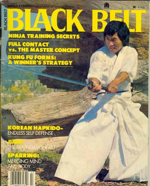 Master Hidy Ochiai Black Belt Magazine Cover
