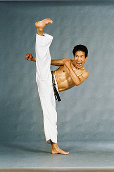 Hidy Ochiai Traditional Japanese Karate Master Kick