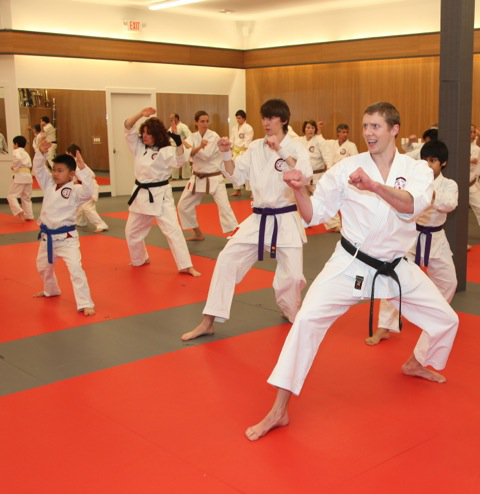 Sensei William Max Winkler leading traditional karate class in Ashburn, VA