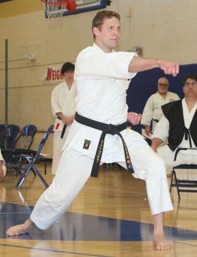 Sensei William Max Winkler at 45th Annual Washin-ryu Traditional Karate Tournament