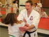 Kids Karate Student Doing Self Defense in Ashburn VA