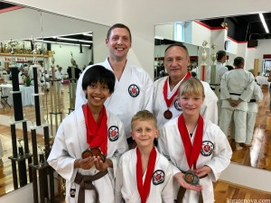 Competitors with Sensei Winkler (one absent)